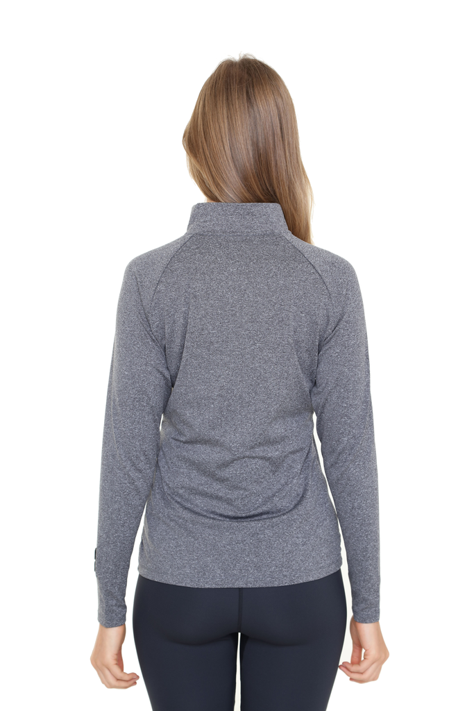 Heated Zip Top | Women | Heather Gray