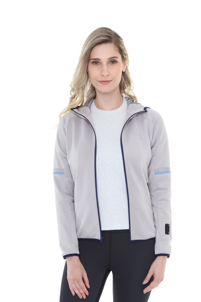 Heated Full-Zip Hoodie Gray | Women