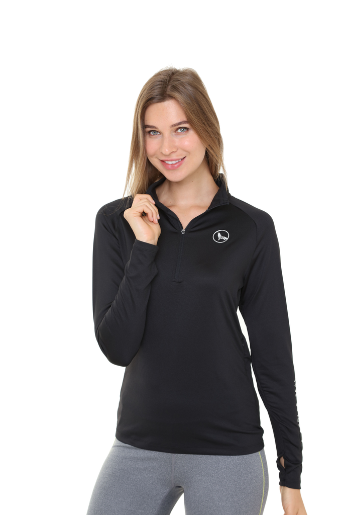 Heated Zip Top | Women | Jet Black