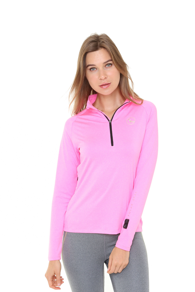 Heated Zip Top | Women | Fuschia Pink