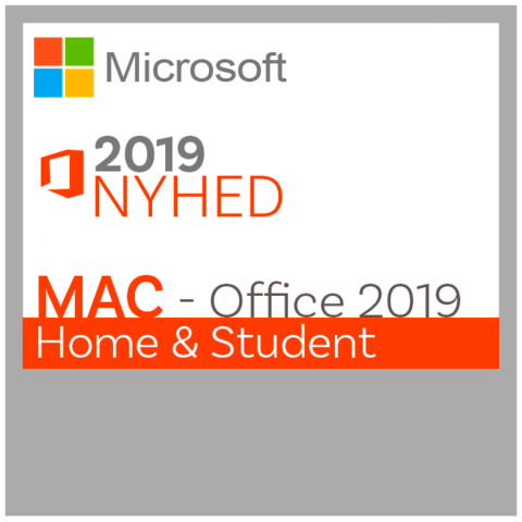 Microsoft Office - Home and Student 2019 til Mac