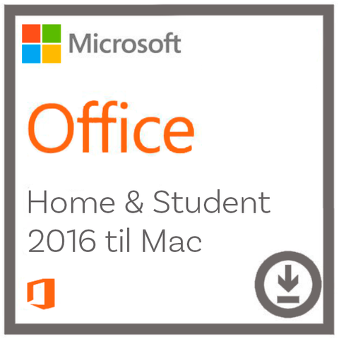 Microsoft Office Home and Student 2016 til Mac