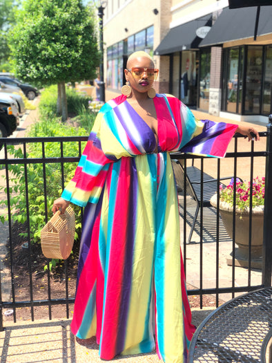 Over the Rainbow Maxi Dress (Plus Size)