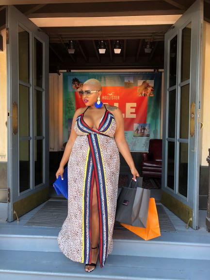 "The ""Eclectic"" Maxi Wrapped Dress (Plus Size)"