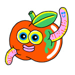 Wormy Apple Sticker