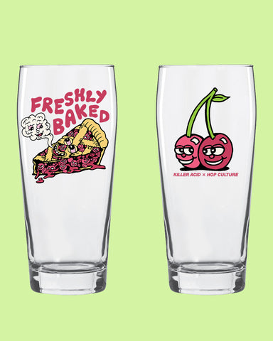 "Killer Acid x Hop Culture ""Freshly Baked"" Glass"