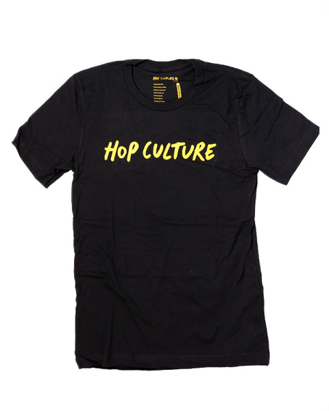 Hop Culture Script Logo Shirt (GOLD)