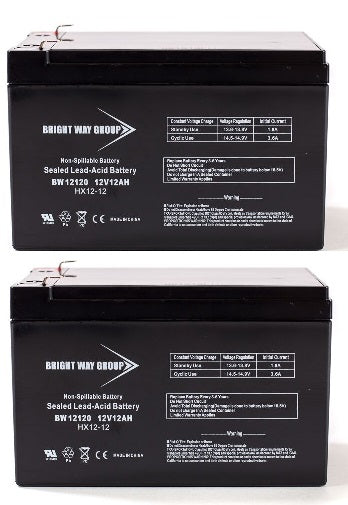 Pride Mobility Sonic - Pack is for (2) 12V 12AH Batteries