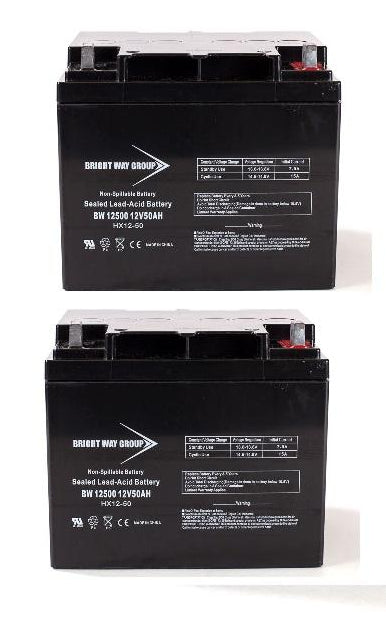 Pride Mobility Hurricane - Pack is for (2) 12V 50AH Batteries