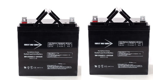 Hoveround Teknique RWD/FWD/GT - Pack is for (2) 12V 55AH Batteries