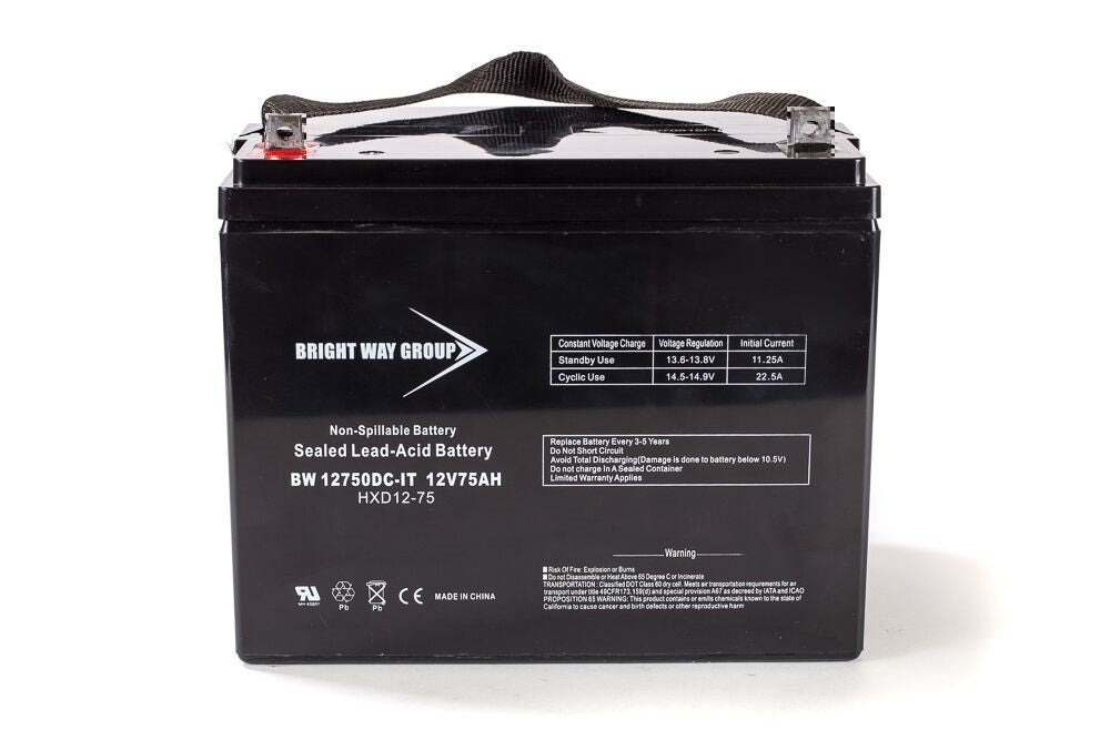 Bright Way Group BW 12750 Z (Group 24) - 12V 75AH SLA Battery