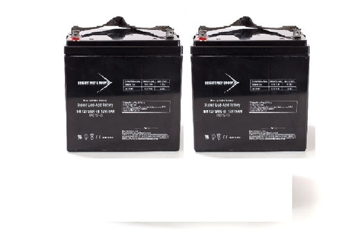 A-Bec/Suntech Scoota/Scoota Plus - Pack is for (2) 12V 55AH Batteries