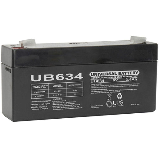 Bright Way Group BW 634 - 6V 3.4AH SLA Battery