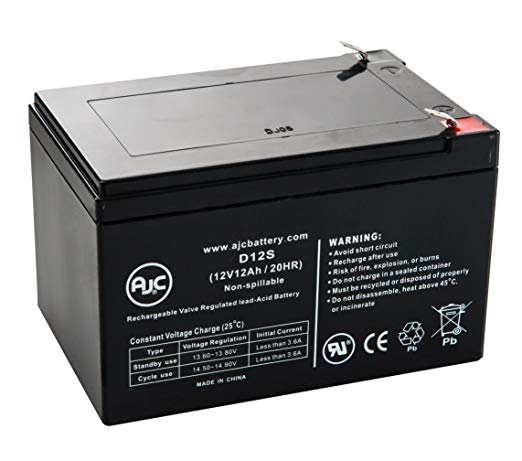 BB EB12-12 - 12 Volt 12 Amp hour B&B batteries - SLA Battery
