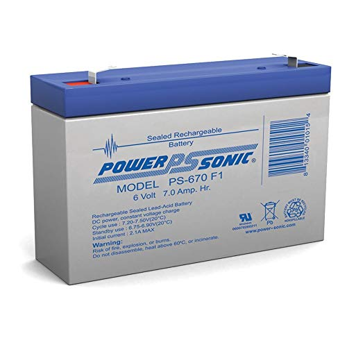 CSB GP670 - 6V 7AH SLA Battery
