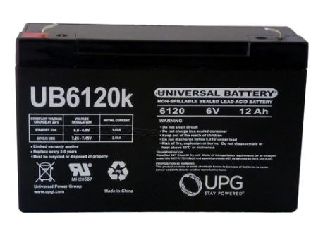 Elpower EP6120 - 6V 12AH SLA Battery