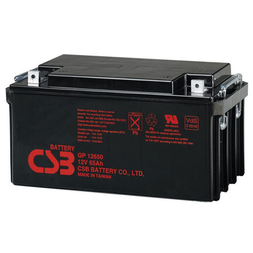CSB EVX-12650 - 12V 65AH SLA Battery