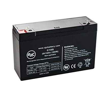 Dynasty JC6100 - 6V 10AH SLA Battery