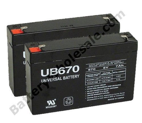 mge pulsar el 2 pack is for one ups 2 6v 7ah batteries