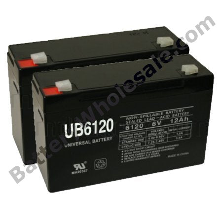 deltec prb650 pack is for one ups 2 6v 12ah batteries