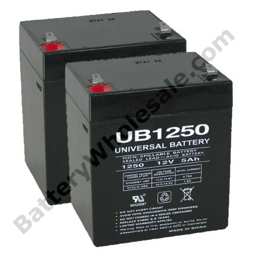 deltec prm1500a pack is for one ups 2 12v 5ah batteries