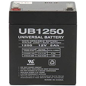TOP 12050 TOP - 12 Volt 5.0 Amp hour SLA Battery