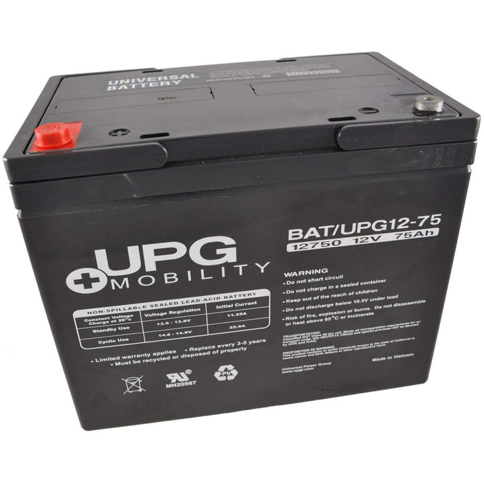 Dynasty UPS 12-270 - 12 Volt 75 Amp hour SLA Battery