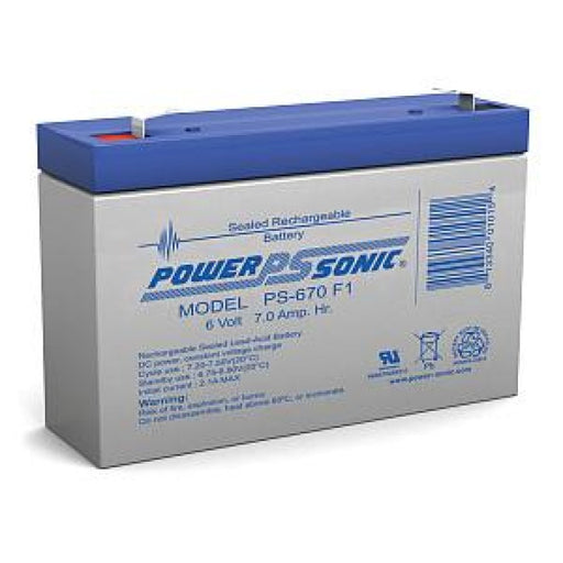 PowerSonic PS-670 - 6V 7AH SLA Battery