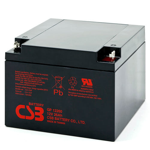 Bright Way Group BW 12260 F2 - 12V 26AH SLA Battery