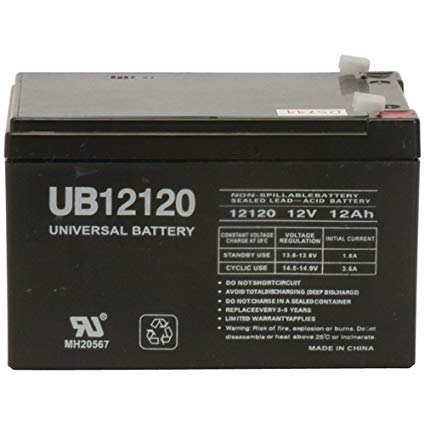 Portalac PX12120 - 12 Volt 12 Amp hour SLA Battery