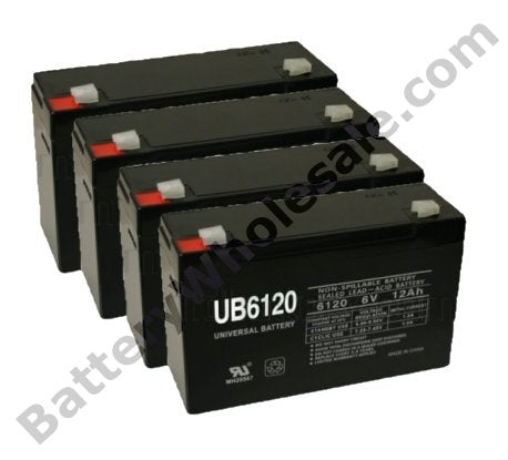 exide pw5119 1000 pack is for one ups 4 6v 12ah sla batteries