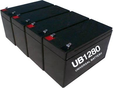 parasystems minuteman mm600ss 2 pack is for one ups 4 12v 8ah batteries