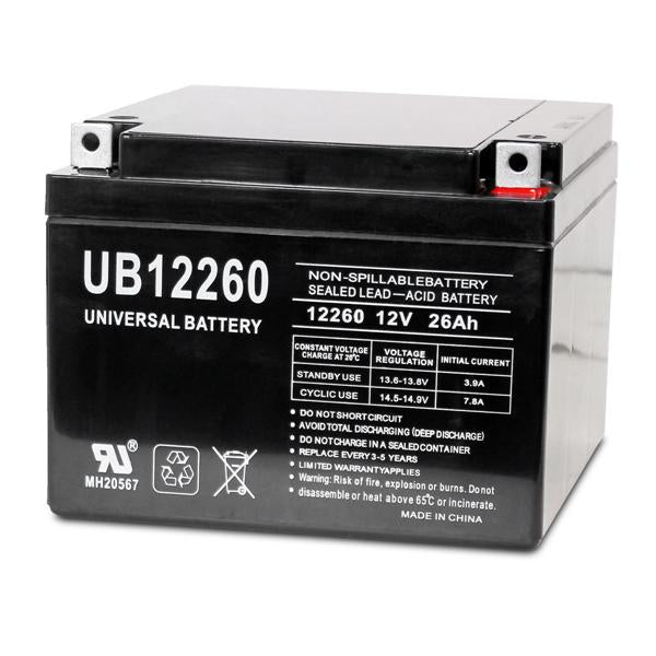 TOP 12260 TOP - 12 Volt 26 Amp hour SLA Battery