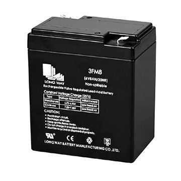 Long WP8-6A - 6V 8AH SLA Battery