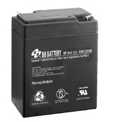 bb bp8 6v 6v 8ah b b batteries sla battery