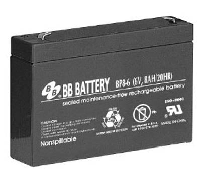 bb bp8 6 6v 8ah b b batteries sla battery