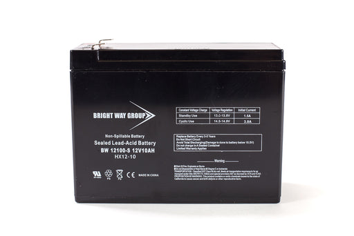 Bright Way Group BW 12100-S F2  - 12V 10AH SLA Battery