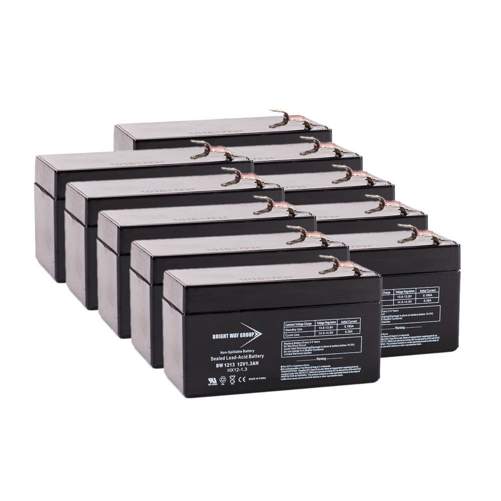 DataShield 1200 - Pack is for one ups, (10) 12V 1.3AH Batteries