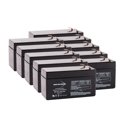 DataShield SS400 - Pack is for one ups, (10) 12V 1.3AH Batteries
