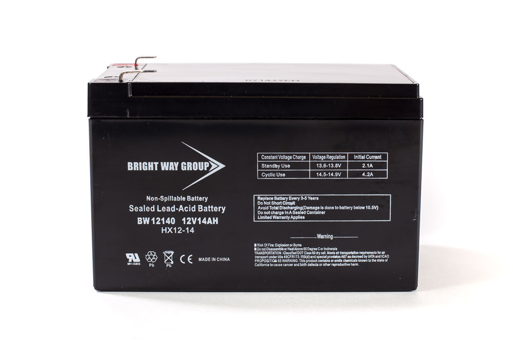 bright way group bw 12140 f2 12v 14ah sla battery