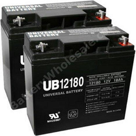 12 volt 18 amp hour sealed lead acid battery 2 pack