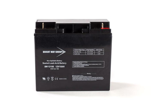 Bright Way Group BW 12180 - 12V 18AH Nut and Bolt SLA Battery