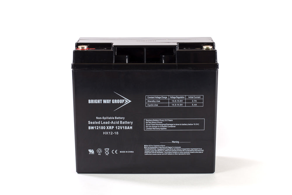 bright way group bw 12180 xrp 12v 18ah sla battery
