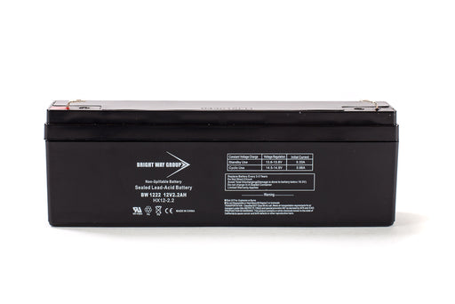bright way group bw 1222 12v 2 2ah sla battery