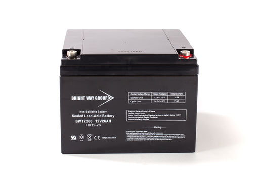Bright Way Group BW 12260 IT - 12V 26AH SLA Battery