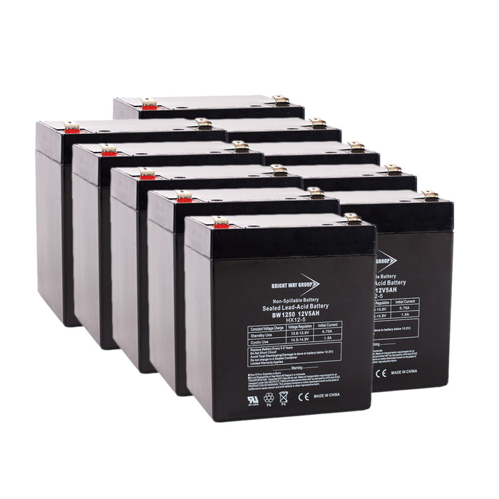 Exide Prestige 3000 - Pack is for one UPS, (10) 12V 5AH Batteries