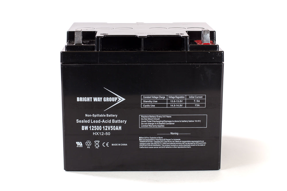 Merits MP3U - Pack is for (1) 12V 50AH Battery