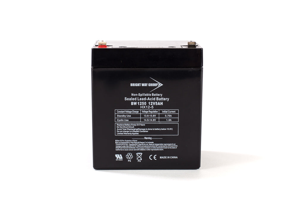 Bright Way Group BW 1250 - F2  - 12V 5AH SLA Battery