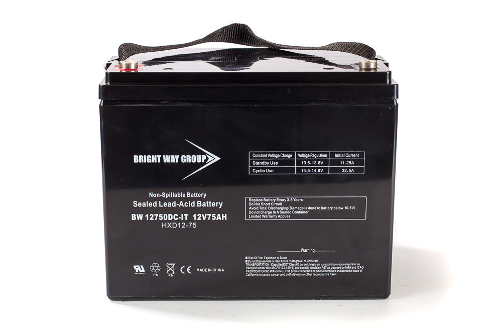 Bright Way Group BW 12750 IT (Group 24) - 12V 75AH SLA Battery