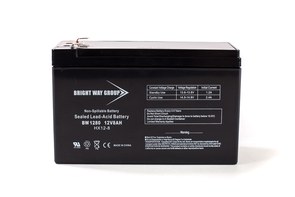 12 volt 8 amp hour sealed lead acid battery